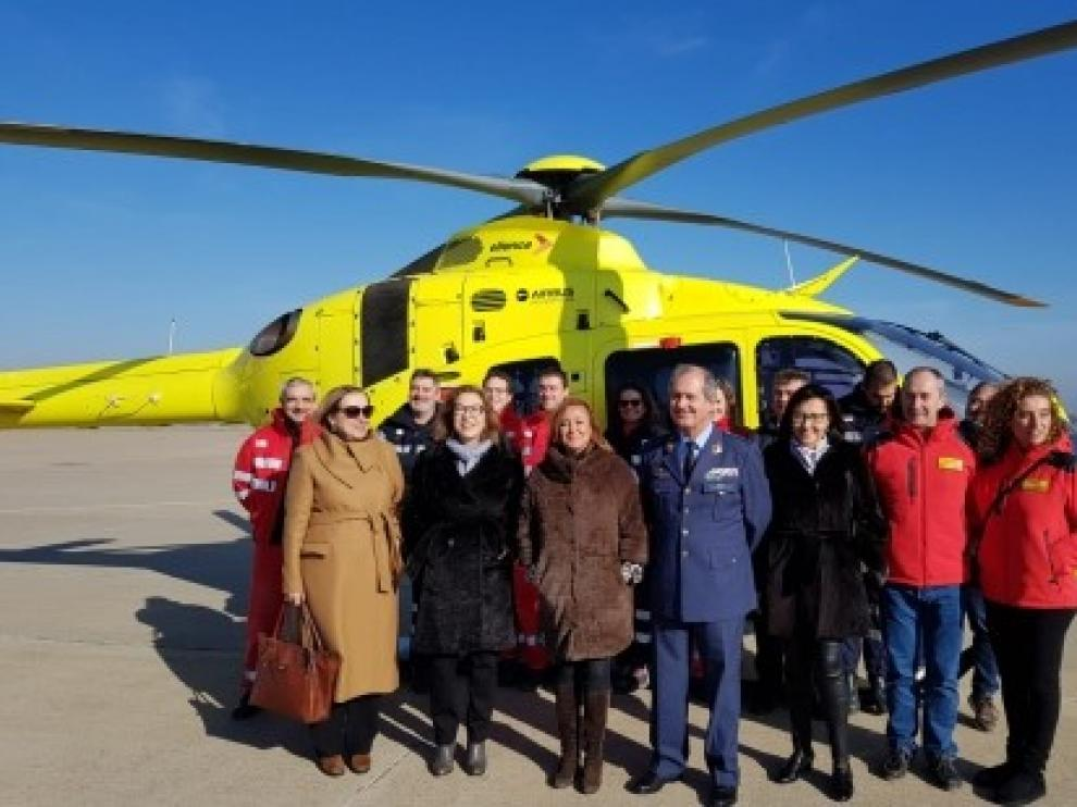 Los helicópteros del 112 incorporan la posibilidad de conservar y suministrar sangre en casos de emergencias sanitarias