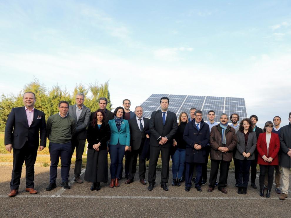 Arturo Aliaga asiste en Huesca a la presentación del proyecto HIGGS de la Fundación del Hidrógeno