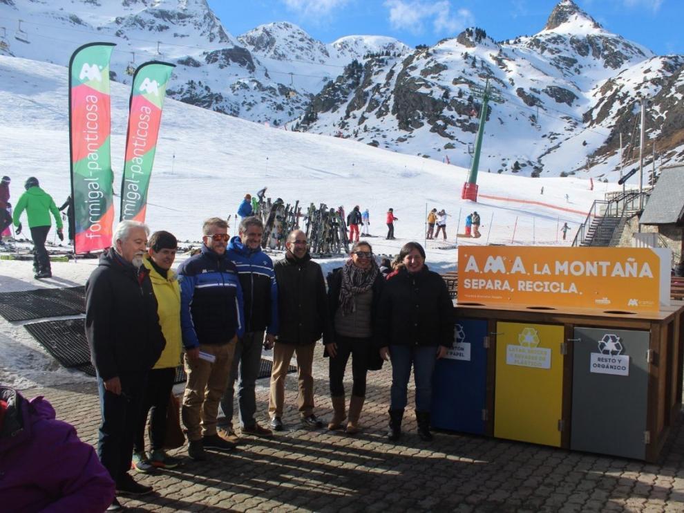 Fomentan el reciclaje en las pistas de esquí de Aramón