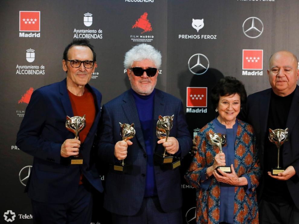 """""""Dolor y gloria"""" arrasa en la ácida gala de los Premios Feroz"""