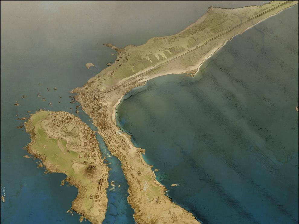 Cádiz fue dos islas separadas por un canal hasta la época romana
