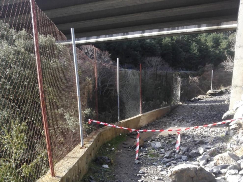 Corte del Camino de Santiago entre Canfranc y Villanúa por las obras en la N-330