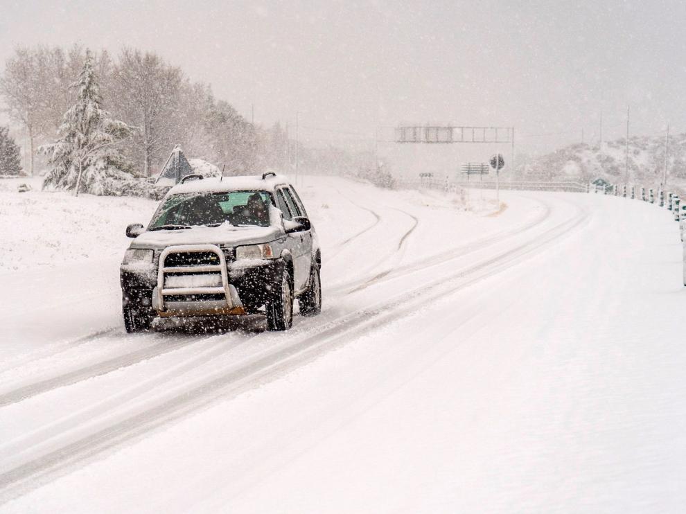 CSIF pide medidas para que los profesores no tengan que arriesgarse en la carretera en días de grandes nevadas