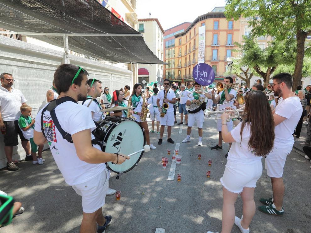 Las seis peñas de Huesca volverán a estar en la plaza Navarra para San Lorenzo