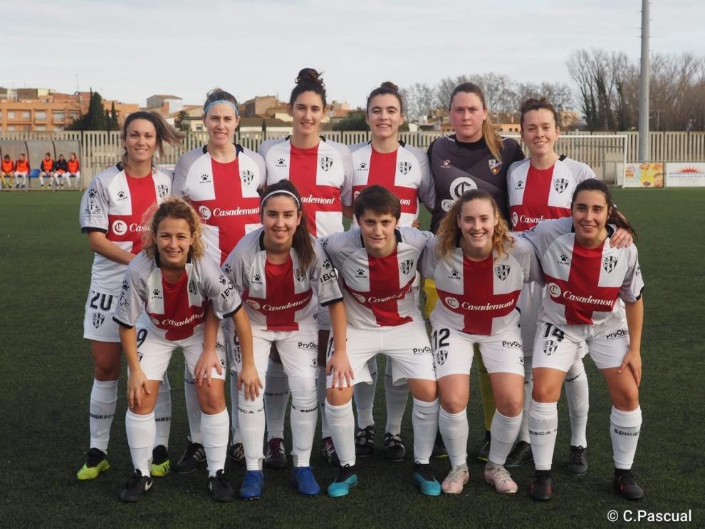 El Huesca femenino saca un luchado empate ante el Sant Pere Pescador