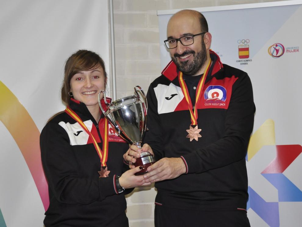 Lucas Munuera y Carmen Pérez, bronce en el Nacional de Dobles Mixtos de curling