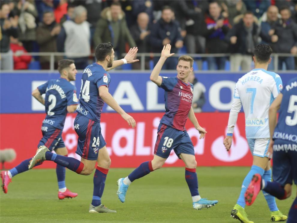 El Huesca afronta un mes de febrero muy exigente
