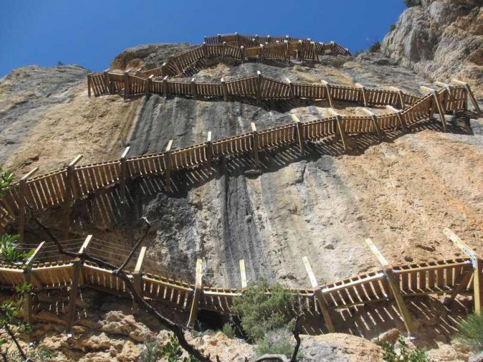 Cerrado el acceso al congosto de Montrebei desde Cataluña