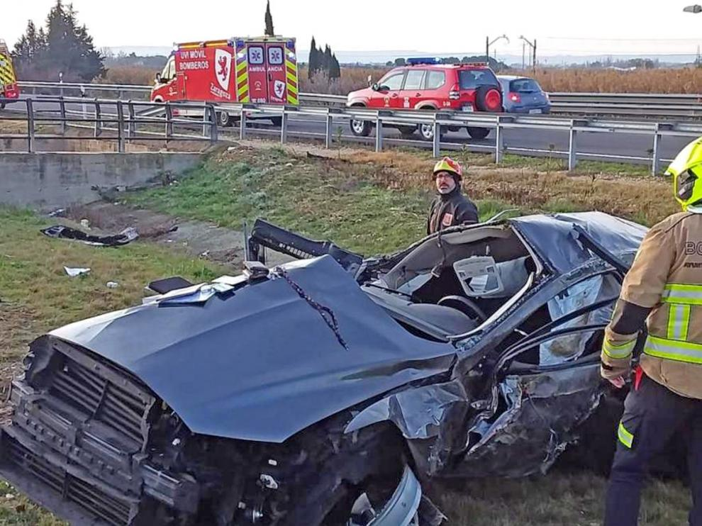 Fallece un hombre de 45 años al salirse su vehículo de la AP-68