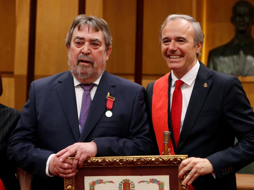 """Belloch recibe su """"soñada"""" Medalla de Oro de Zaragoza"""