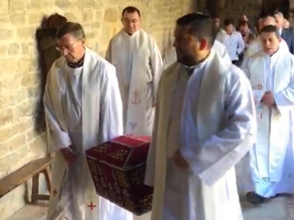 Roda de Isábena celebra San Valero con las reliquias del santo