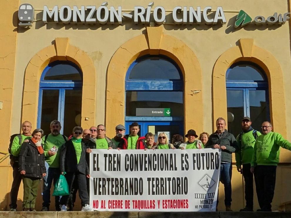 Cambiar Monzón extiende su defensa del tren por Aragón