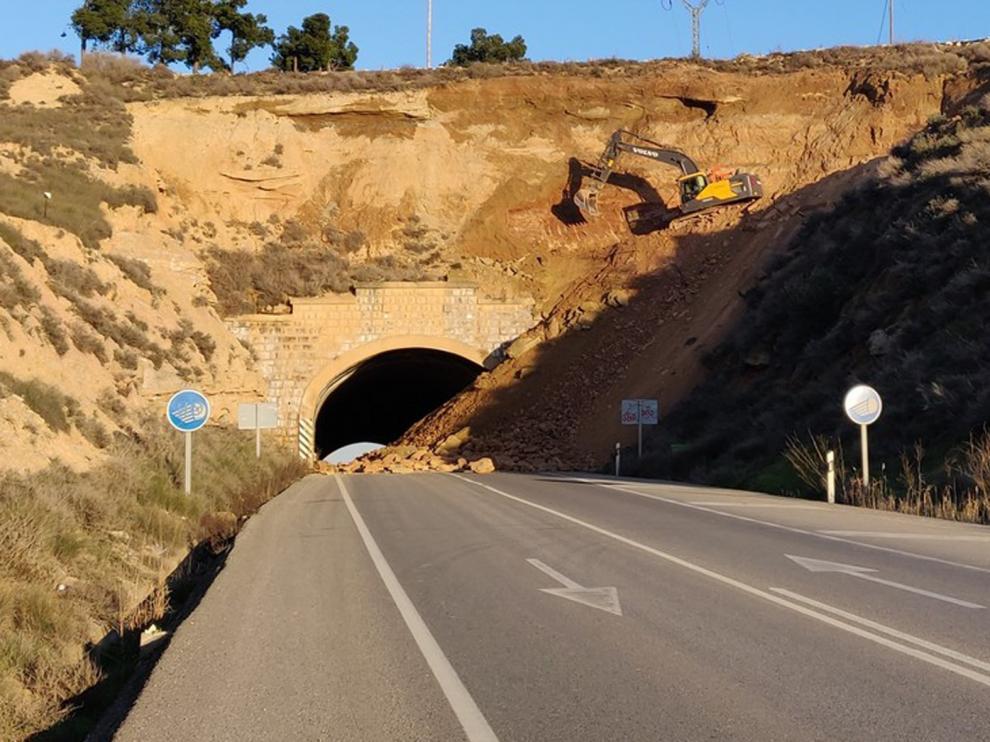 El túnel de la N-II a la salida de Fraga permanecerá cerrado la próxima semana