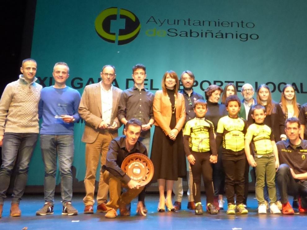 Jorge Arcas y Ruth Larrosa, los mejores deportistas en Sabiñánigo
