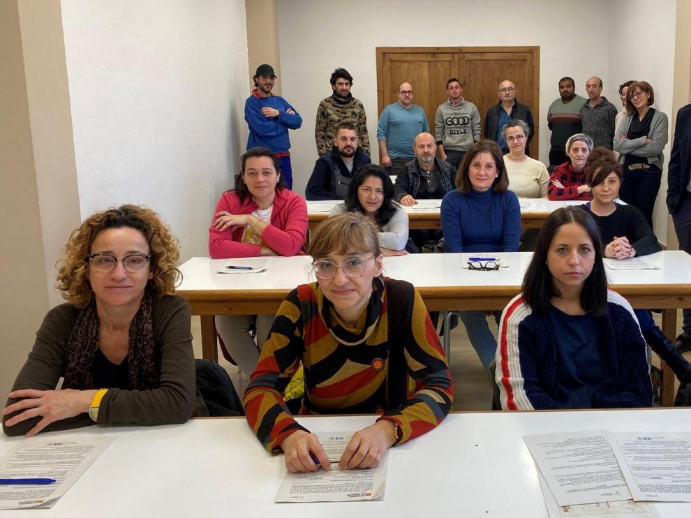 Albañilería y atención sociosanitaria, formación en el taller de Entabán
