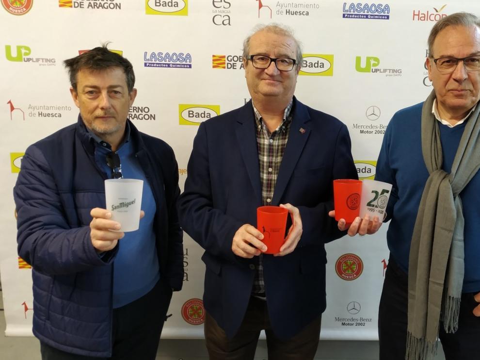 Se estrenan vasos reutilizables en el Palacio de Deportes de Huesca