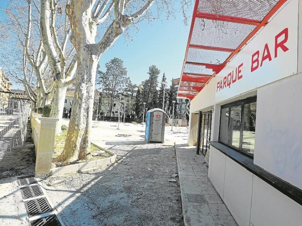 El Parque Bar de Huesca entrará en servicio en primavera con un aspecto renovado