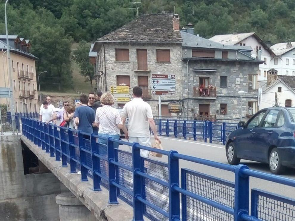 CHA apremia al Gobierno para licitar cuanto antes la ampliación del puente de Broto