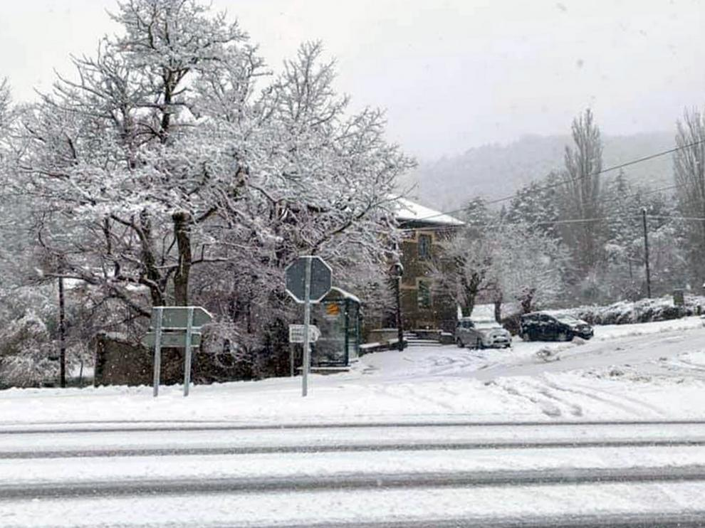 Borrasca de nieve en la provincia de Huesca