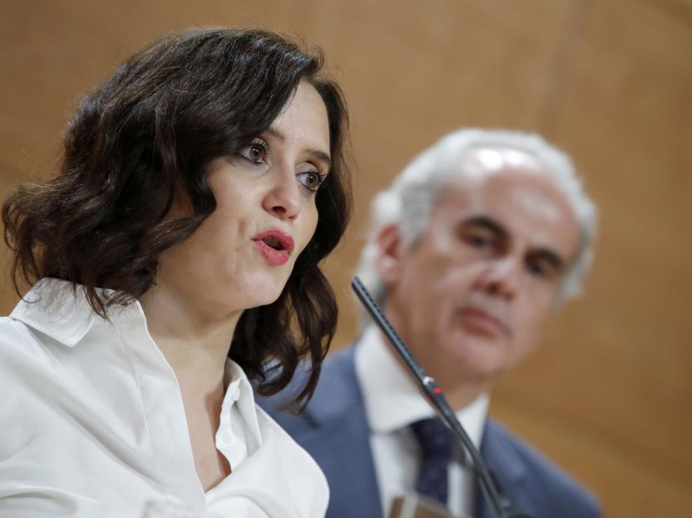 Isabel Díaz Ayuso da positivo por coronavirus
