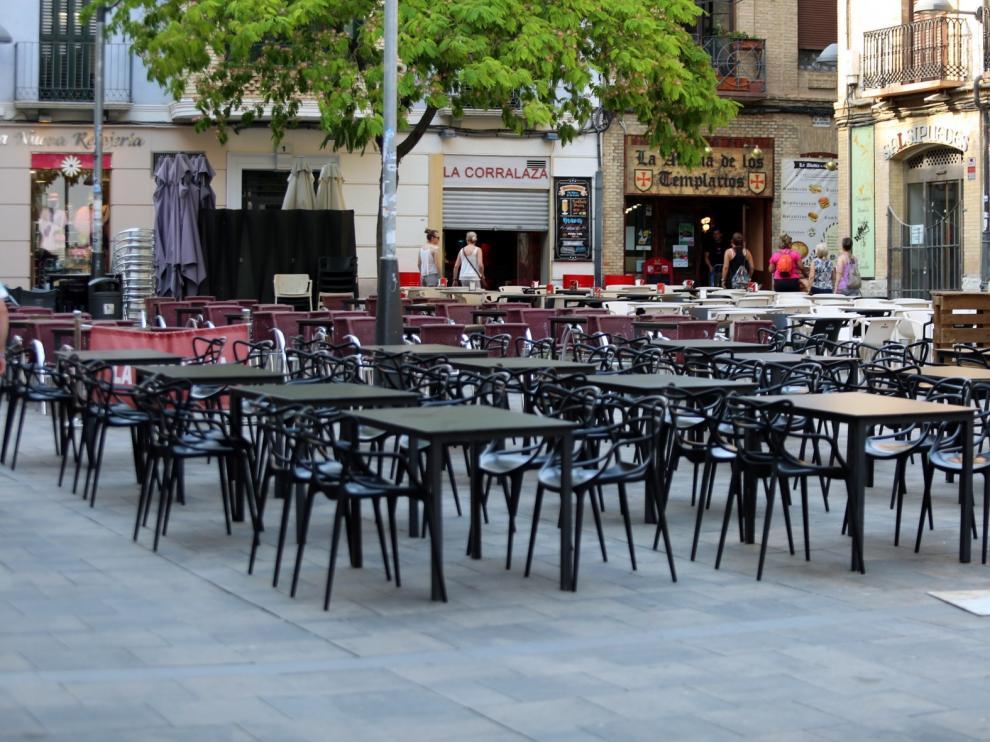 La asociación de hostelería y el ayuntamiento de Huesca trabajan en la reapertura de los verladores
