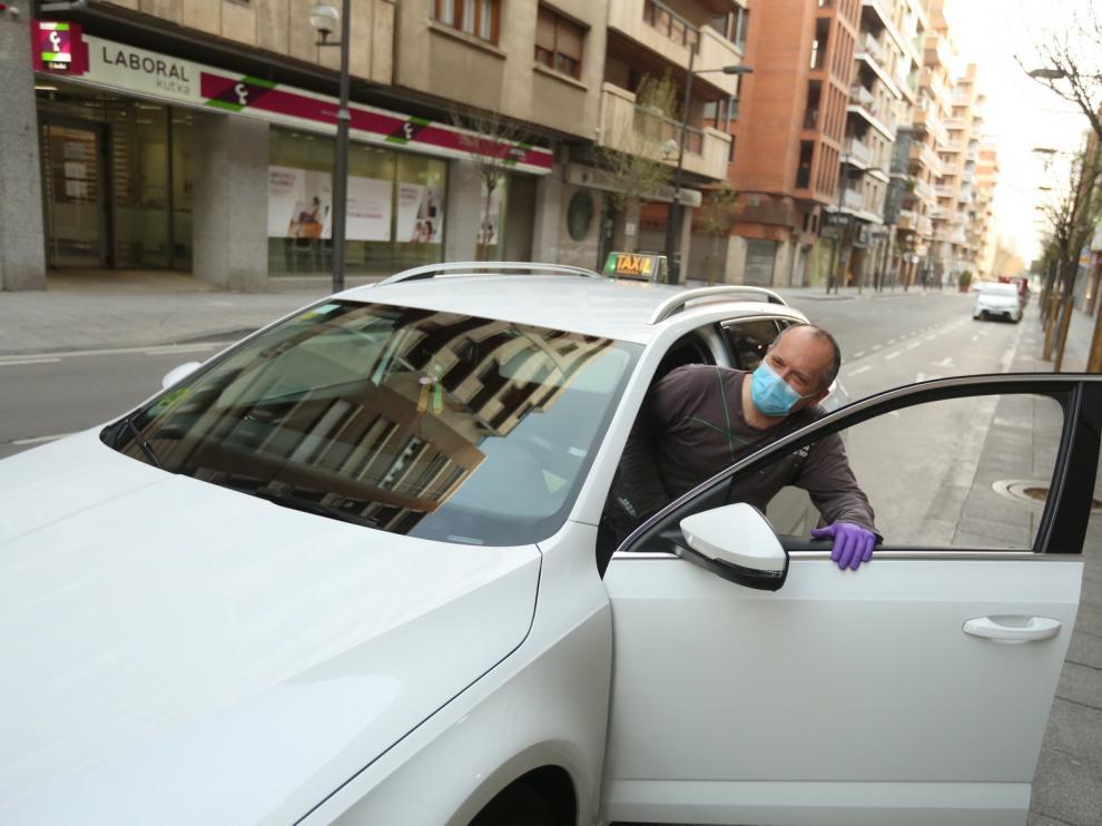 El servicio de taxis de Huesca reduce sus vehículos de nuevo por el coronavirus