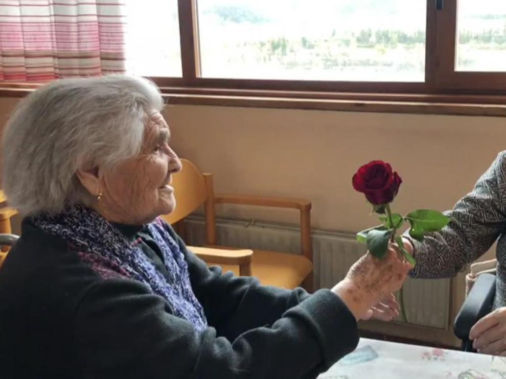 La Residencia La Solana de Aínsa manda un mensaje de optimismo ante el coronavirus
