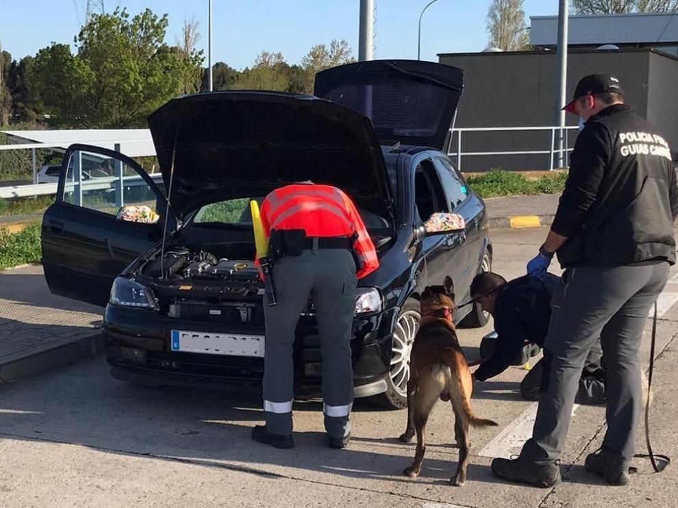 Pillados en Navarra dos conductores de Huesca que se dirigían a una fiesta en Pamplona