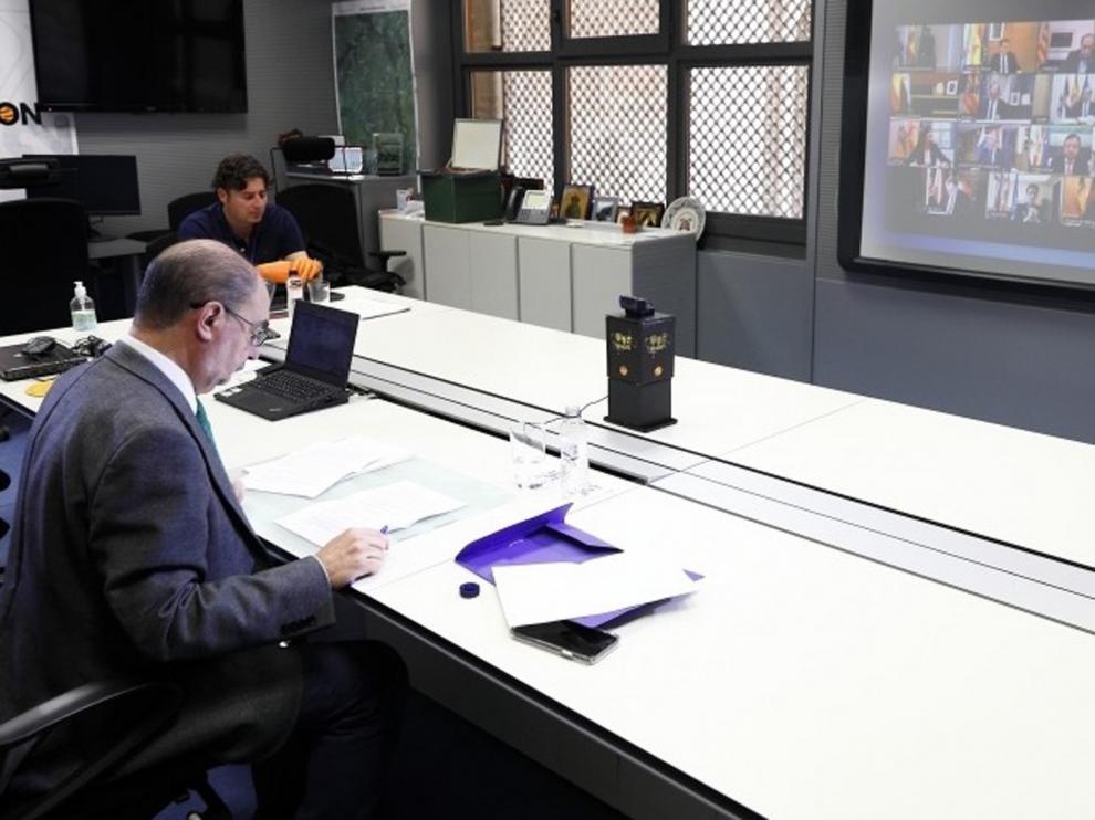 Lambán plantea un programa de recuperación socioeconómica por la crisis por el coronavirus