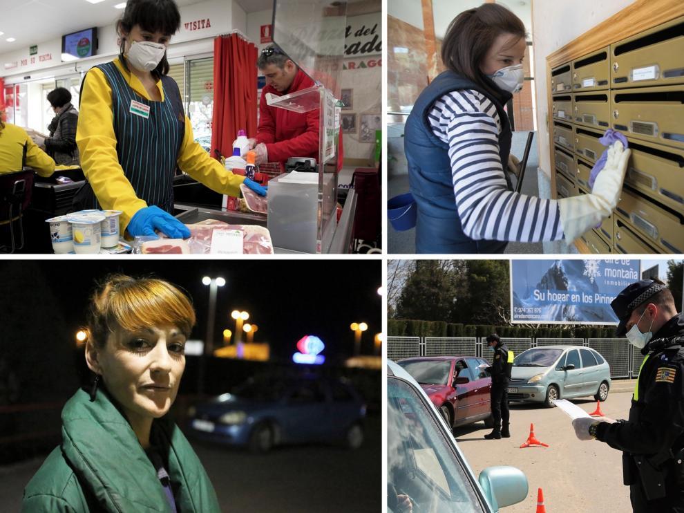Trabajadores que cada día hacen frente al riesgo de contagio por coronavirus