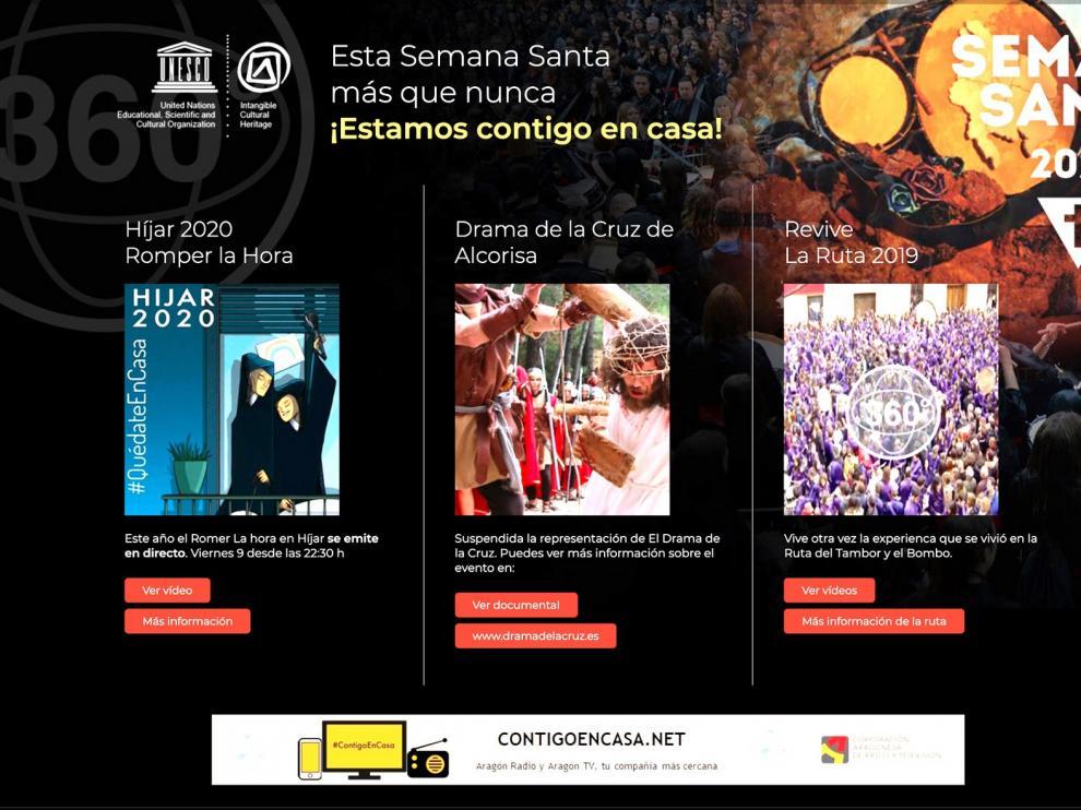 Aragón TV muestra la Semana Santa a través de un dispositivo