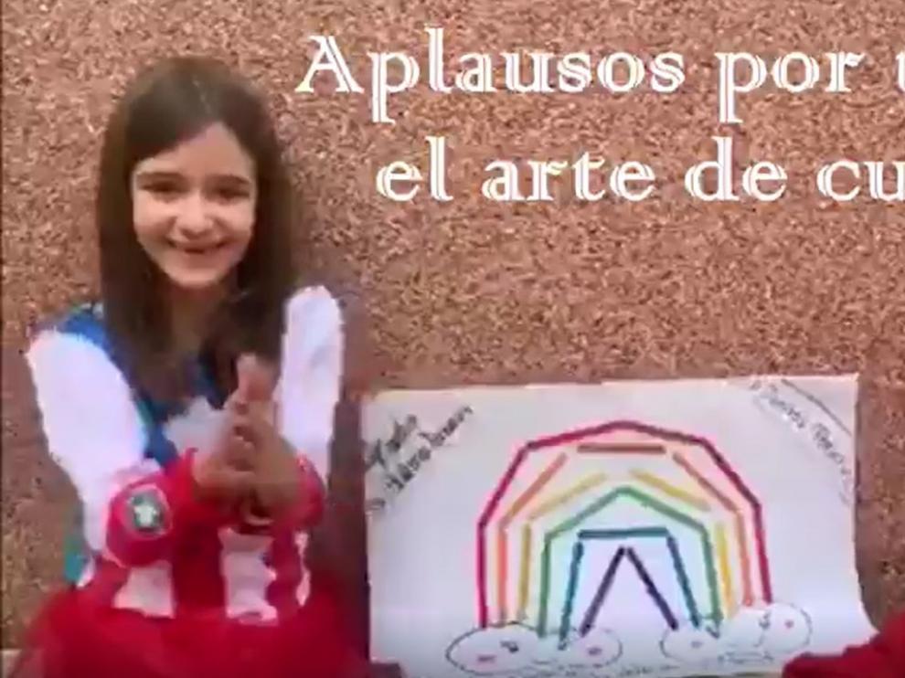 El Colegio Virgen del Romeral de Binéfar se une a mandar un aplauso solidario por todos los sanitarios