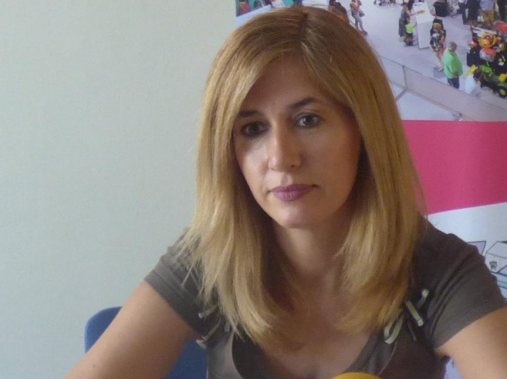 Belinda Pallás destaca en Barbastro la labor del pequeño comercio de alimentación en la crisis del coronavirus