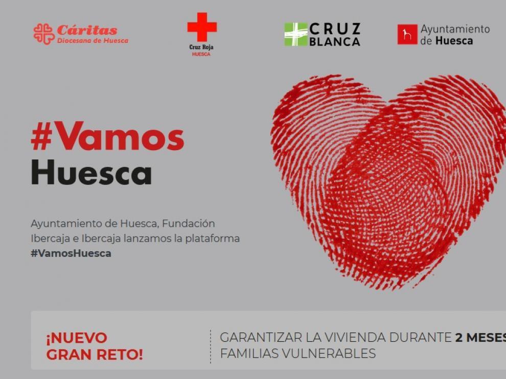 """""""Vamos Huesca"""" cubre en tres días su primer reto y lanza uno nuevo para ayudar a 10 familias oscenses"""