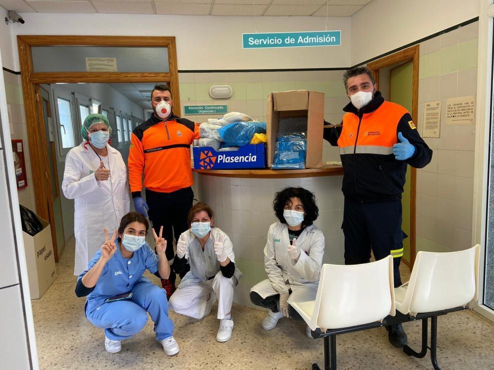 Protección Civil de la Hoya de Huesca, un apoyo logístico esencial