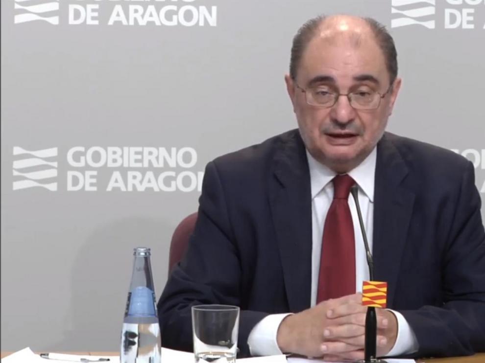 Lambán pide a Sánchez que la salida escalonada del confinamiento sea más rápida en el medio rural