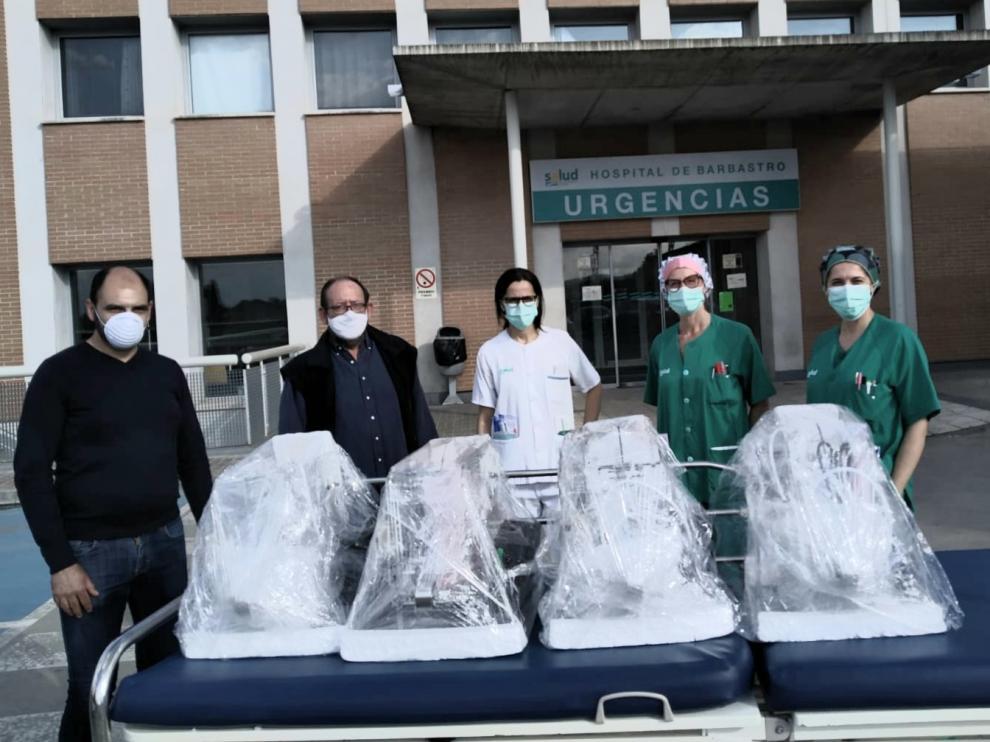 Llegan a Barbastro cuatro equipos de automatización de funcionamiento de respiradores manuales