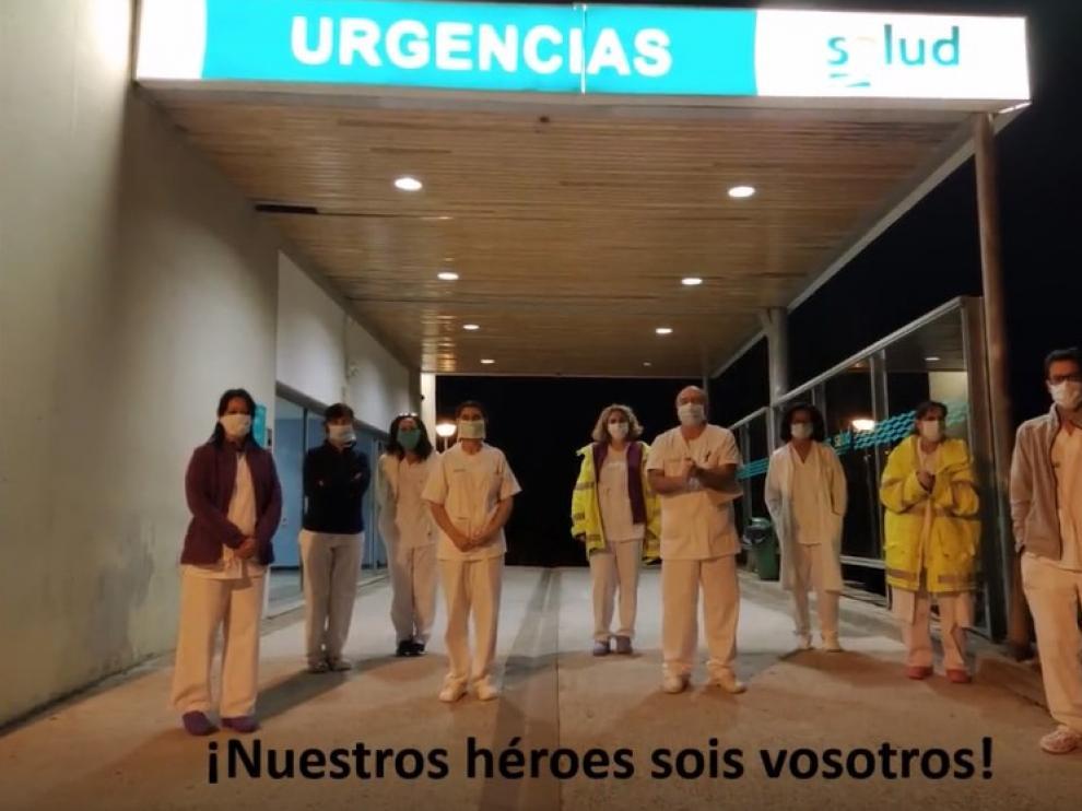"""El personal del Hospital de Jaca da las gracias """"de corazón"""" por todo el apoyo recibido durante el coronavirus"""