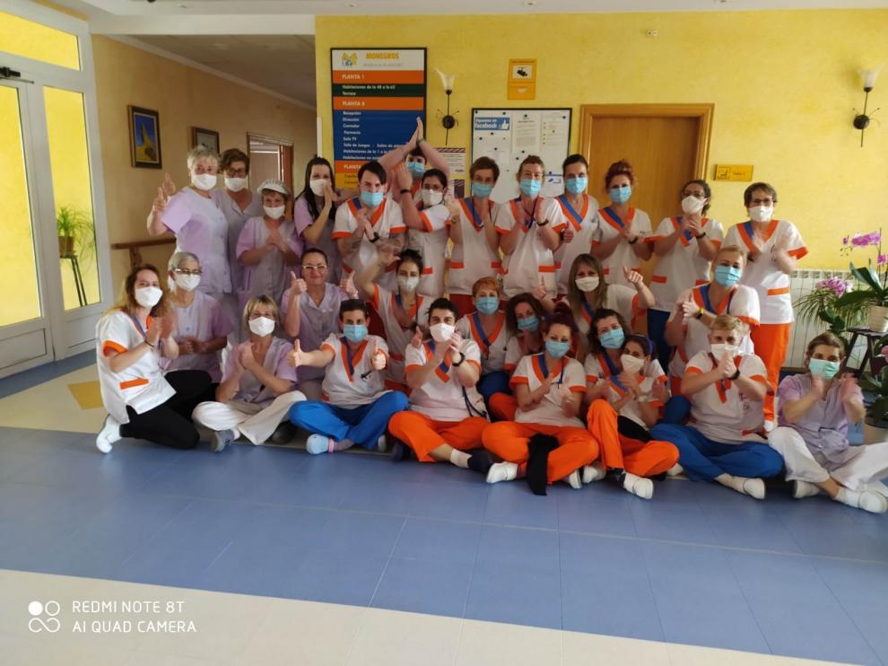 Las trabajadoras de la Residencia Monegros de Grañén prorrogan su confinamiento voluntario