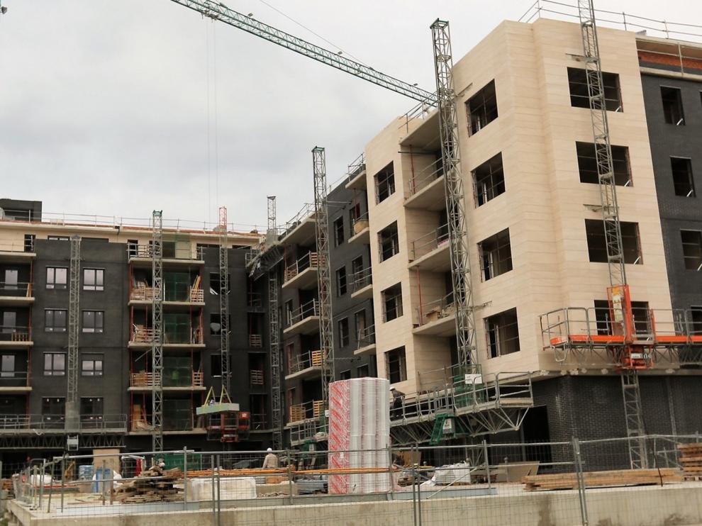 La obra nueva sube un 0,7 % en Huesca en seis meses