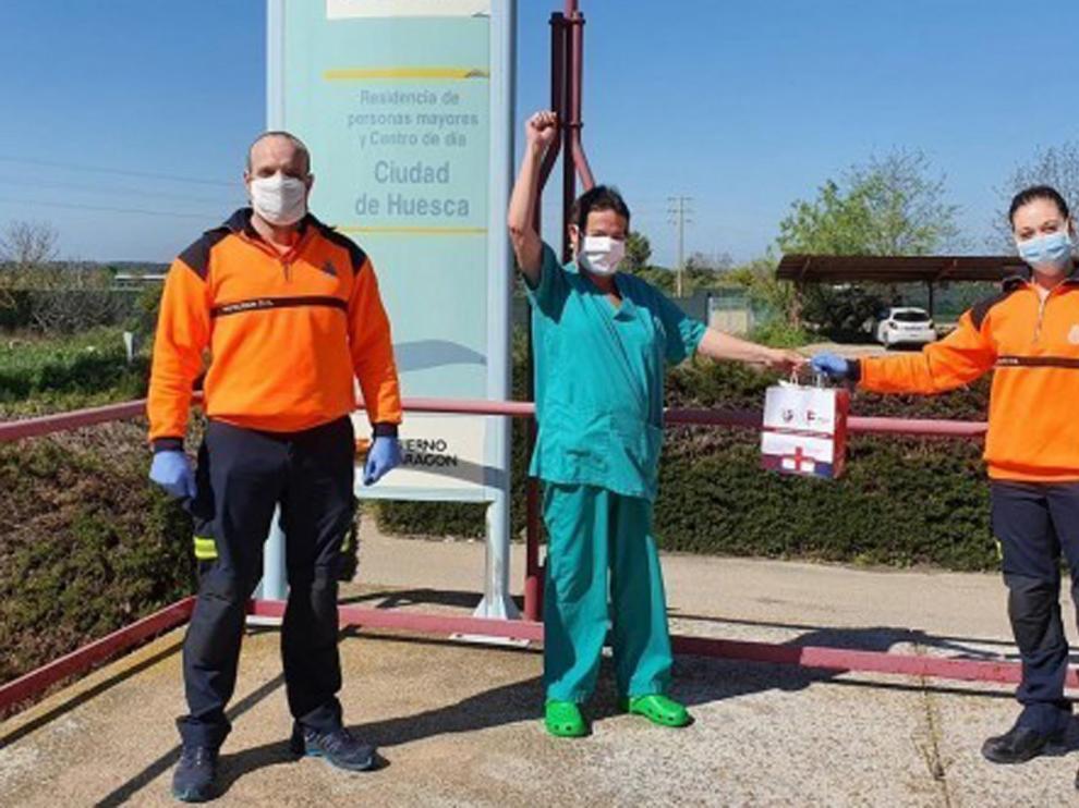 Club y Fundación Alcoraz aportan su granito de arena en esta crisis por la pandemia deL coronavirus