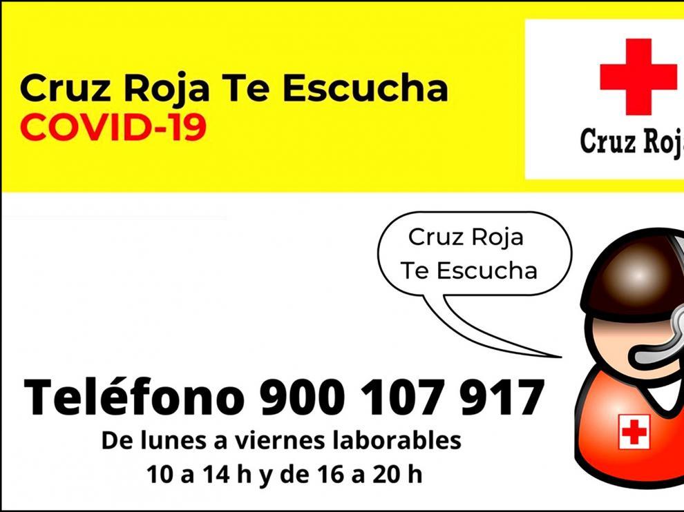 """""""Cruz Roja te escucha"""" da apoyo psicosocial a toda la ciudadanía"""