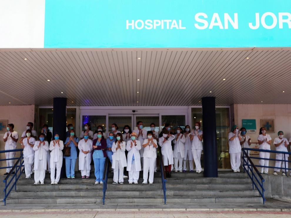 El Hospital San Jorge asegura estar surtido de material sanitario con el que hacer frente a la pandemia del coronavirus
