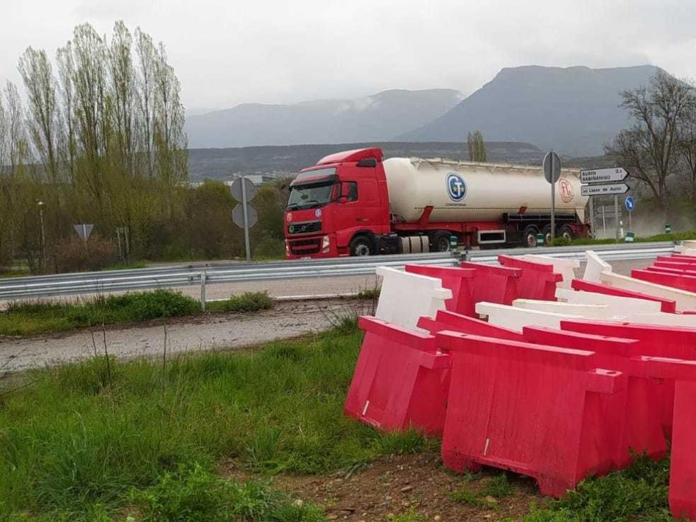 Retomadas las obras de construcción de autovías en Siétamo y Sabiñánigo