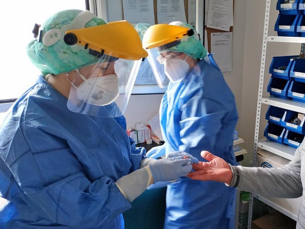 Aragón ha hecho algo menos de 1.000 test rápidos para detectar el coronavirus