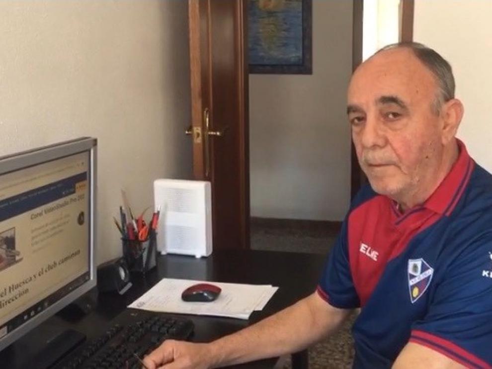 El exjugador del Huesca José Antonio Palacino, con ganas de volver a animar en el Alcoraz