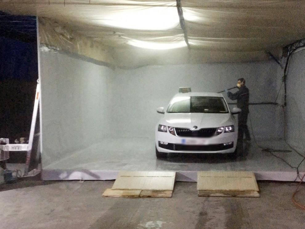 Desinfección de vehículos en Huesca