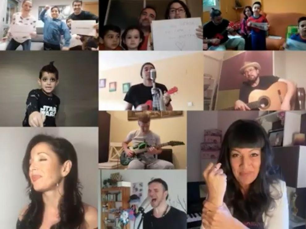 """José Antonio Vicente se rodea de otros artistas oscenses para dar las gracias a los que están """"en primera línea"""" del coronavirus"""
