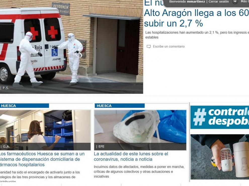 Diariodelaltoaragon.es registra en el mes de marzo su cifra récord de 223.000 usuarios