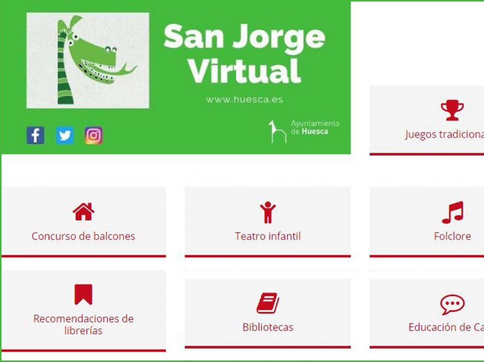 La cultura da el salto a la web para celebrar San Jorge